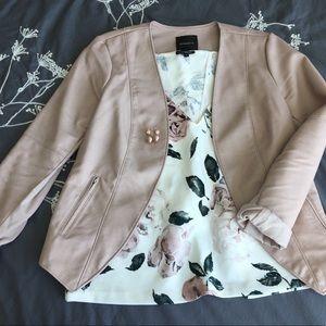 Dynamite Pink Faux Leather Jacket